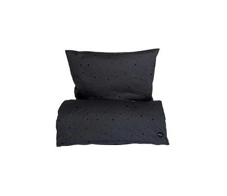 OYOY Duvet Dot Baby schwarzer Baumwolle 70x100cm