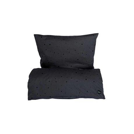 OYOY Duvet Dot baby black cotton 70x100cm