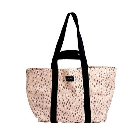 OYOY Mami bag big pink black cotton 28x46x38cm