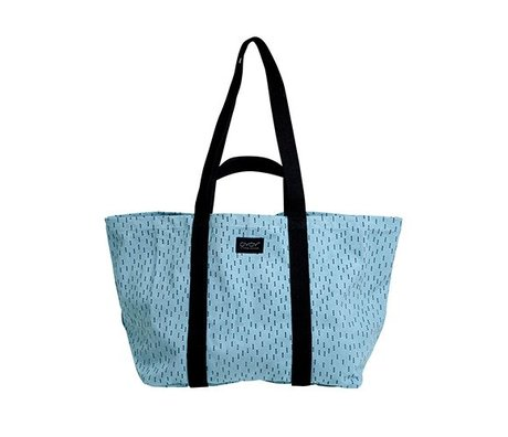 OYOY Mami bag big blue black cotton 28x46x38cm