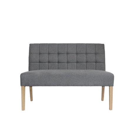 LEF collections Banque Sem textile gris 125x59x92cm