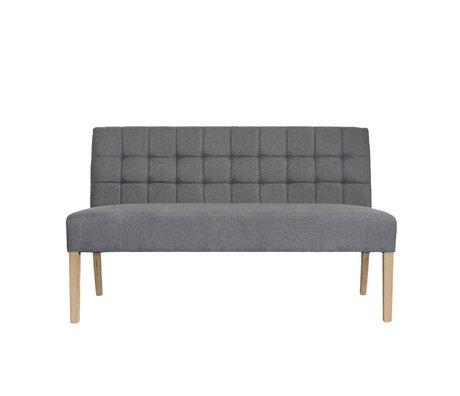 LEF collections Banque Sem textile gris 156x59x92cm