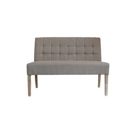 LEF collections Sem Bank naturbraun Textil 125x59x92cm