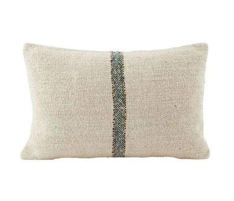 Housedoctor Cushion cover 30x50cm cotton green Sweep cream