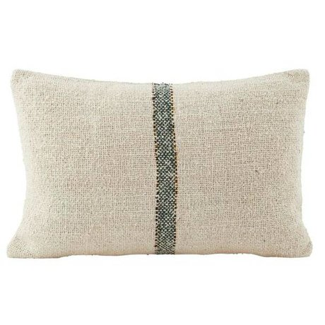 Housedoctor Cushion cover Sweep cream white green cotton 30x50cm