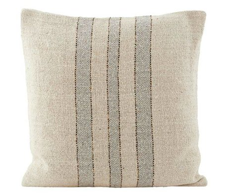 Housedoctor Cushion cover Sweep cream white green cotton 50x50cm