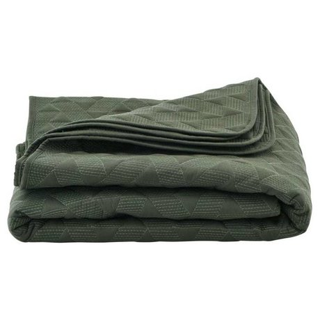 Housedoctor Mih green cotton bedspread 140x220cm