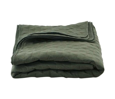 Housedoctor Mih green cotton bedspread 240x240cm