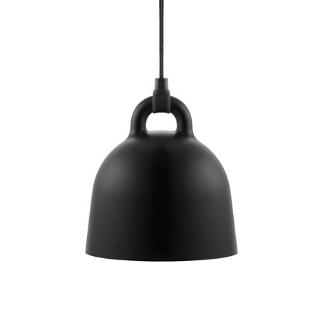Normann Copenhagen Hanglamp Bell zwart aluminium XS Ø22x23cm