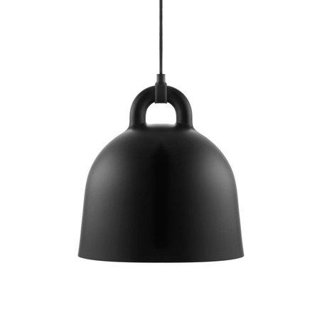 Normann Copenhagen Cloche lumière pendante aluminium noir S Ø35x37cm