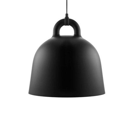 Normann Copenhagen Hanging lamp Bell black aluminum M Ø42x44cm