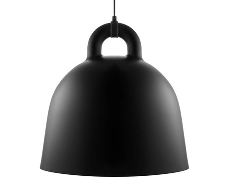 Normann Copenhagen Bell-Pendelleuchte aus schwarzem Aluminium L Ø55x57cm
