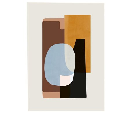 Ferm Living Poster ABSTRACTION 1 multicolour paper 50x70cm