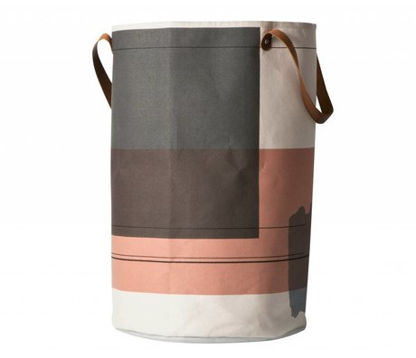 Ferm Living Wasmand Colour block multicolour textiel ø40x60cm