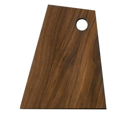 Ferm Living Asymmetrical cutting board brown wood 18x22x1,5cm