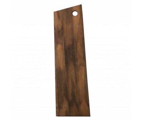 Ferm Living Asymmetrical cutting board brown wood 15x50x1,5cm