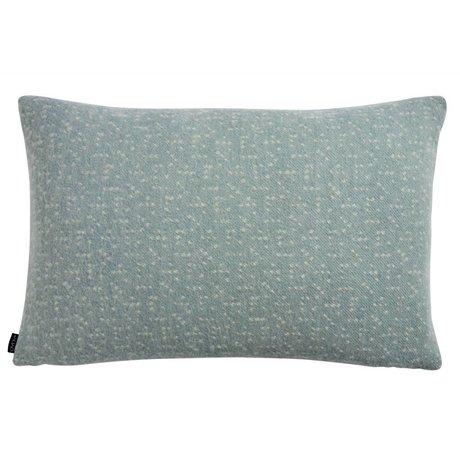 OYOY Sierkussen Tenji dusty blauw wit wol 40x60cm