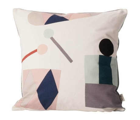 Ferm Living Throw Pillow Party off-white fabric 40x40cm