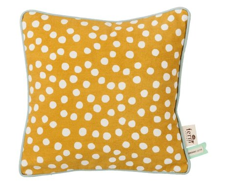 Ferm Living Cushion Dots yellow curry 30x30cm