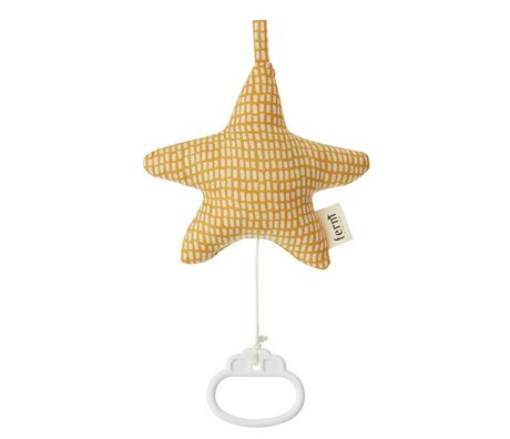 Ferm Living Mobile music cotton cotton 16x14cm Star