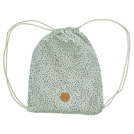 Ferm Living Gym bag Dot mint organic cotton 28x36cm