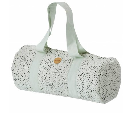 Ferm Living Duffel bag Dot mint organic cotton 44x17cm