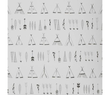 Ferm Living Wallpaper Native monochrome paper 53x1000cm