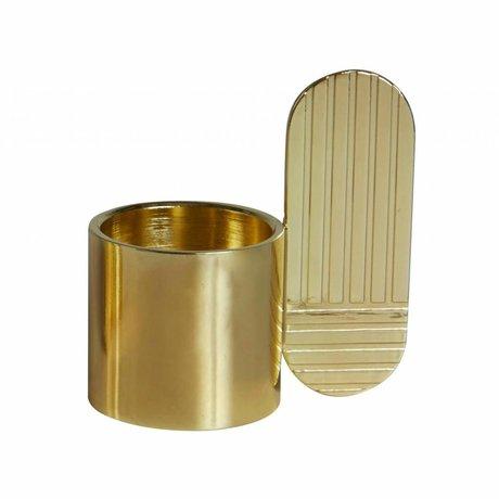 OYOY Kandelaar ART OVAL brass goud metaal ⌀7,5x8cm