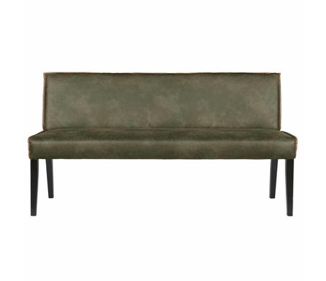 BePureHome Dining room sofa Rodeo green leather 83x156x61cm