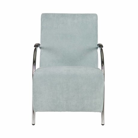 LEF collections Halifax armchair in powder blue corduroy fabric 90x56x85cm