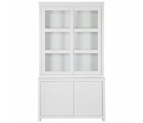 LEF collections Hutch Wessel pin blanc 215x120x49cm