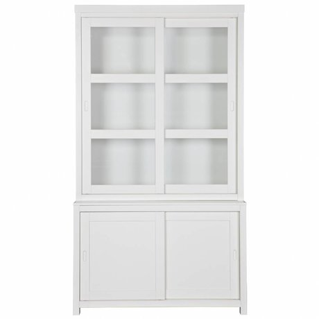 LEF collections Hutch Wessel weiß Kiefer 215x120x49cm