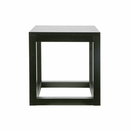 LEF collections Occasional table Wout black oak 47x45x45cm