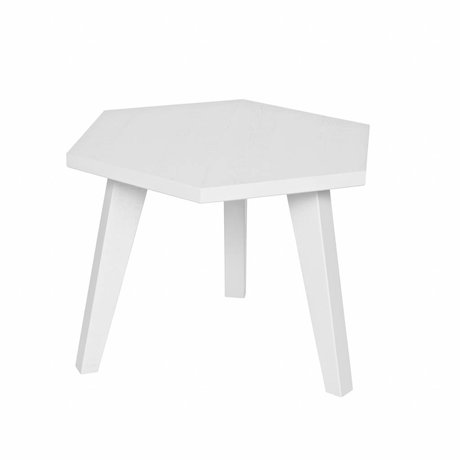 LEF collections Side Table Hex white pine 42x60x52cm