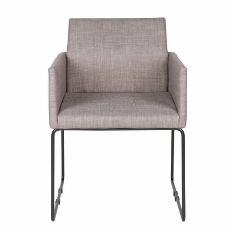 LEF collections Dining chair Jools gray textile 80x61,5x54,5cm