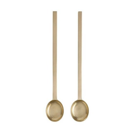 Ferm Living Teaspoon Fein Tea Gold Metall 3,3x20cm 2er-Set