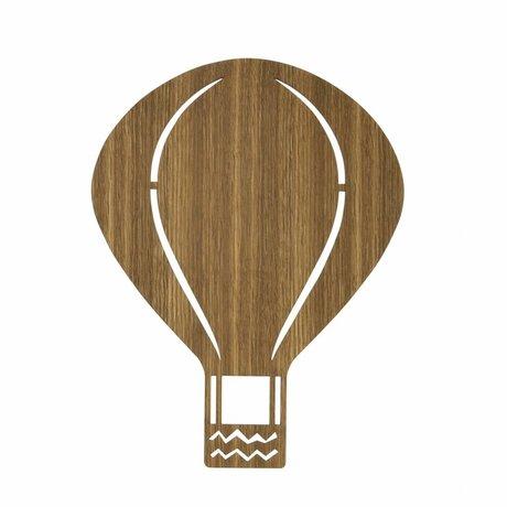 Ferm Living Wall light Hot-air balloon brown wood 26,5x34,55cm