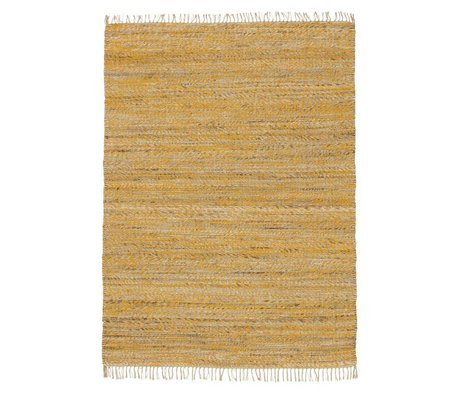 LEF collections Teppich Vista gelb Baumwolle in 4 Größen