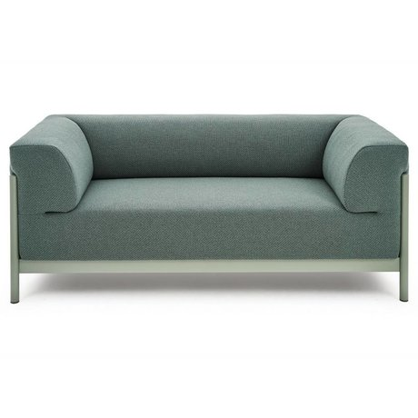 FÉST Kate bench 2-seater gray green Coda 2-962 kvadrat in 3 sizes