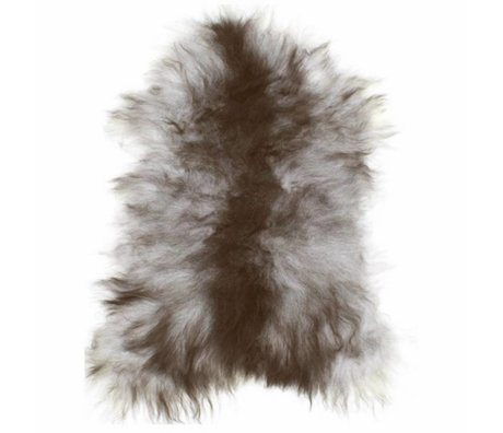 HK-living Sheepskin black / white +/- 55X90cm, Icelandic sheepskin gray