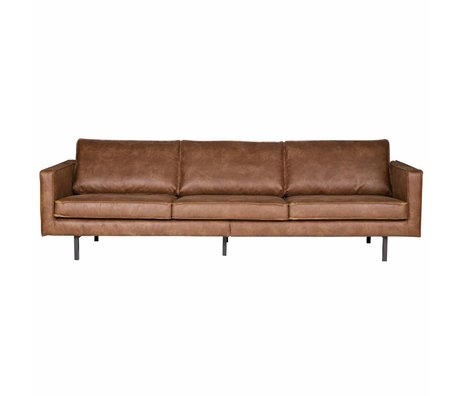 BePureHome Bank Rodeo 3 Sitzcognacbraun Leder 78x274x87cm