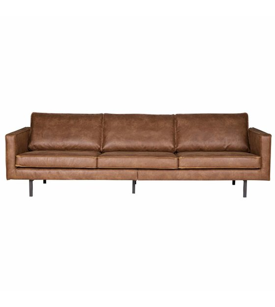 bepurehome bank rodeo 3 seat cognac brown leather 78x274x87cm
