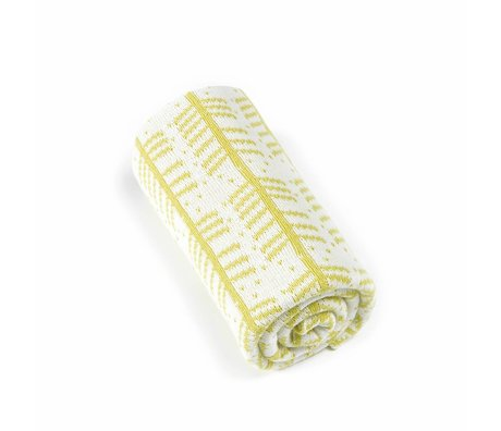 Roomblush Babydecke Federn gelb Baumwolle 80x100cm