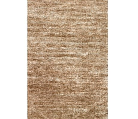 LEF collections Rug Bamboo brown textile 160x230cm