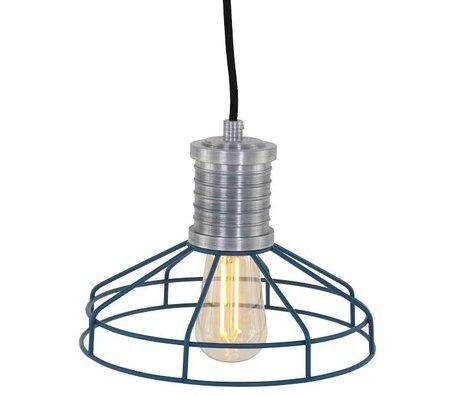 Anne Lighting Hanging lamp Anne L Wire-O blue metal ø23x16cm