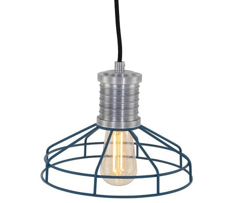 Anne Lighting Hanglamp Anne L Wire-O blauw metaal ø23x16cm