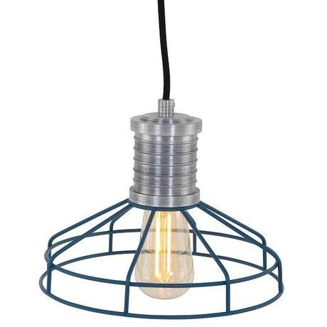 Anne Lighting Hängeleuchte Anne L Wire-O blau Metall ø23x16cm