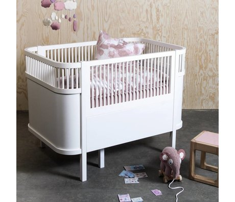 Sebra Bed baby & junior wit hout 112,5-155x70x88cm