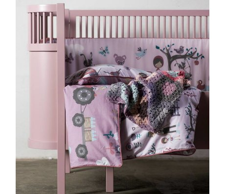 Sebra Bed baby & junior pink wood 112.5-155x70x88cm