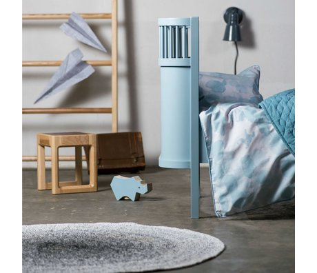 Sebra Crib blue wood 112,5x70x88cm